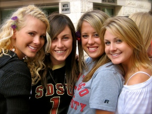 Stephanie Heliker (far left) and friends are graduating from SDSU next week