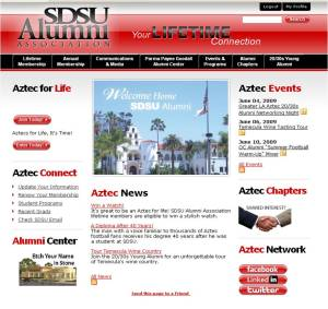 The new SDSU Alumni Association web site
