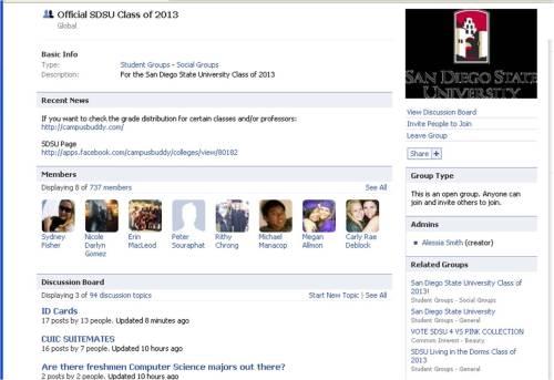 SDSU Class of 2013 Facebook Page