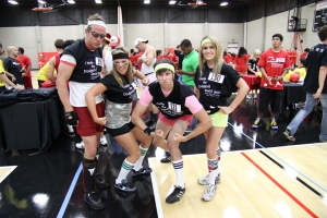 Aztec Nights attendees broke the world's record for dodgeball