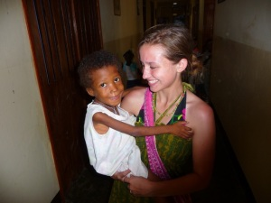 Jeanna with seven year old orphan