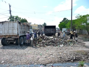 debris from recent flood in les cayes