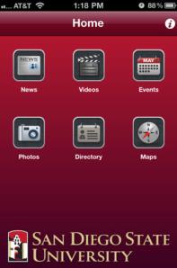 SDSU Mobile Main Page